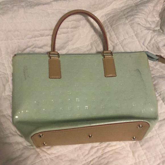Arcadia Bags   Sale Aqua Mint Patent Leather Purse   Poshmark 29c394ccff